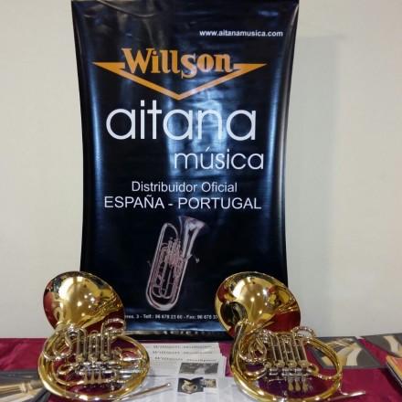 Exposición trompas Willson en el curso de Novelda